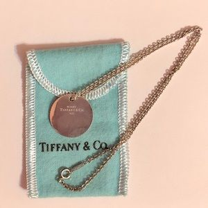 Tiffany & Co coin round disc necklace pendant